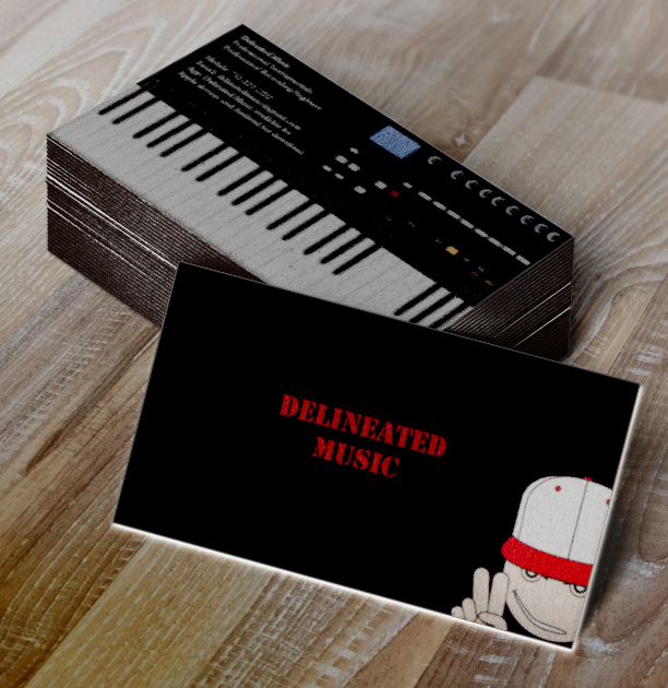 Delineated music logobusiness card design tyreek bullock portfolio delineated music is a company created by a producer recording engineer and he needed a designer to create a logo and a business card colourmoves